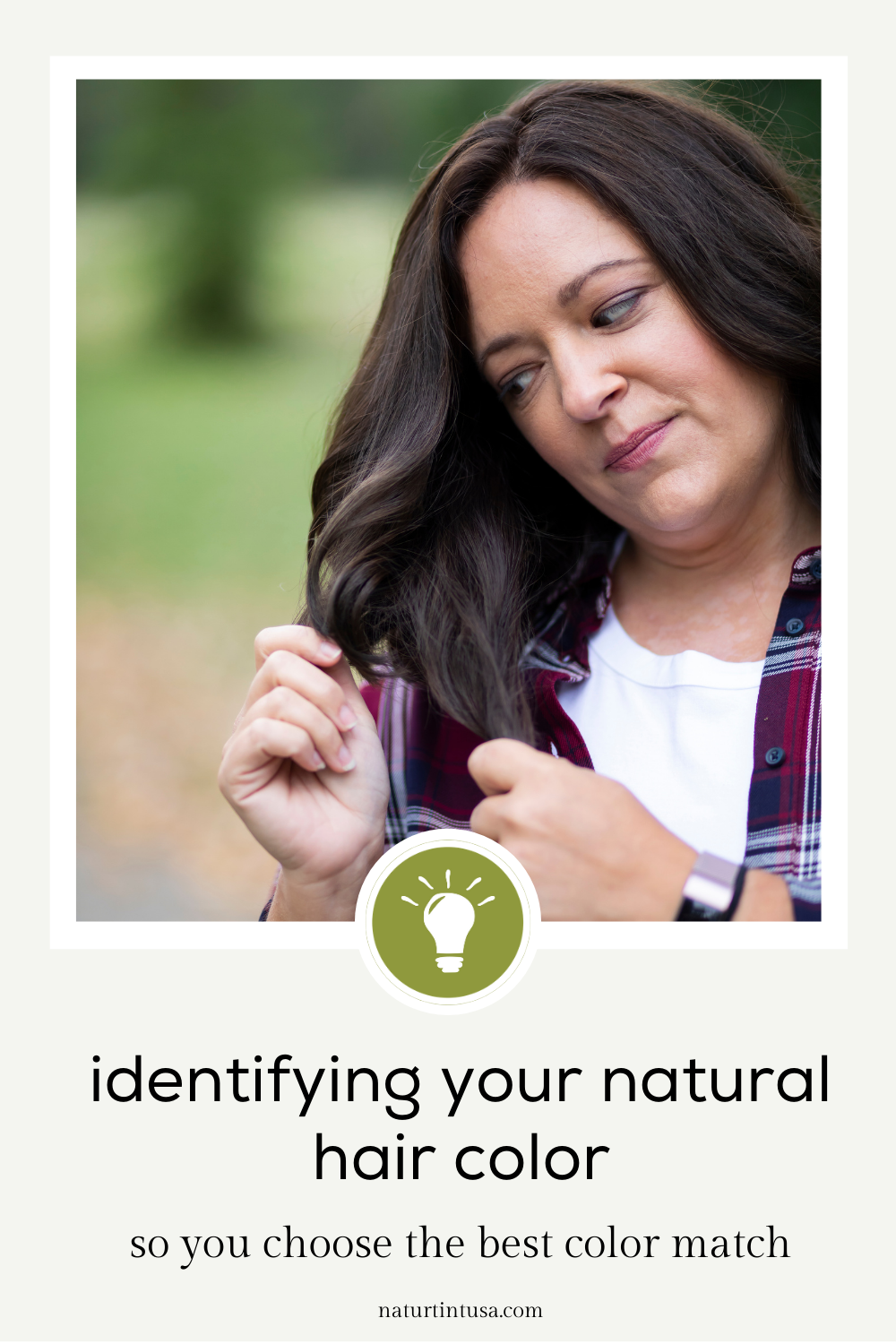 identifying your natural hair color to find the best color match